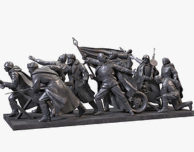 3D model Sculptural Composition World War II