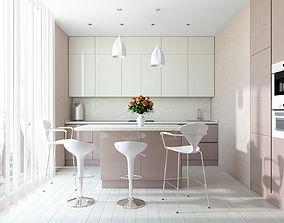 3D bar Modern Kitchen