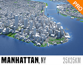 Manhattan New York City And Surroundings PBR 3D asset