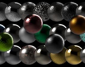 Metallic Series PBR Material 25 pcs 3D
