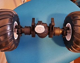 RC Monster Truck Axle Rockwell Axle 3D printable model