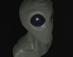 3D Alien Bust