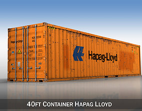 40ft Shipping Container - Hapag Lloyd 3D model