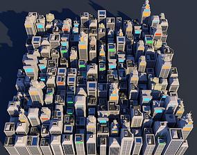 3D asset Low Poly City Megapack