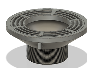 Floor Drain Grate Round 200x100 with 3D printable model 3
