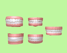 3D Human Mouth 03 Teeth Cartoon