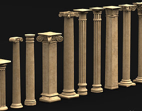 Pack Columns Collection 3d model