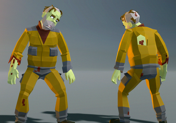 Polygonal Zombie 05