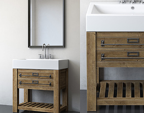 3D MERCANTILE CONSOLE WASHSTAND