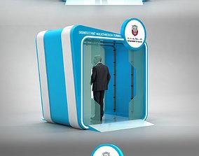 3D model Sanitizer Gate Disinfectant walk through Tunnel