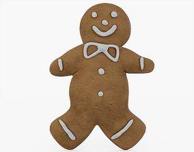 Gingerbread Man 3D asset low-poly