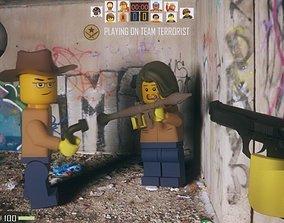 Lego toys or CS - Terrorist 3D asset