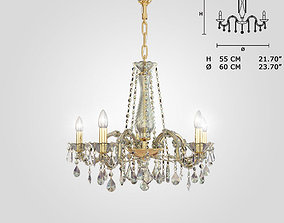 3D model Masiero VE940 5 chandelier