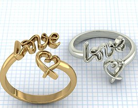 Love Ring 3D printable model romance
