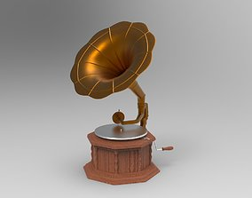 music 3D model Gramophone