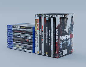 3D model Vol3 DVD Pack of 20 PC PS4 Popular Games