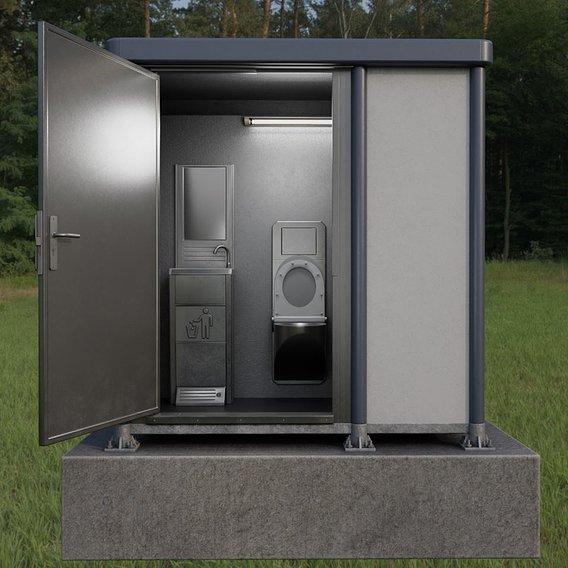 Public Toilet Version 3 (Interior) Blender-2.93