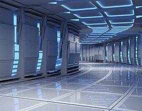 Sci-Fi Futuristic Tunnel 8 3D