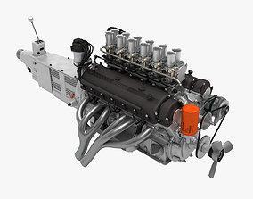 3D model Ferrari Colombo V12 Engine - 4 liter