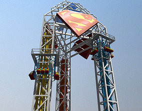Tower of Power Theme Park Ride 3D