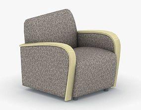 1021 - Armchair 3D model low-poly