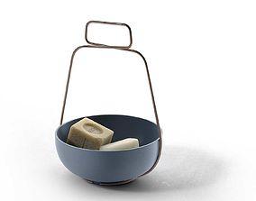 Savon De Marseille Soaps with Muselet Bowl 3D