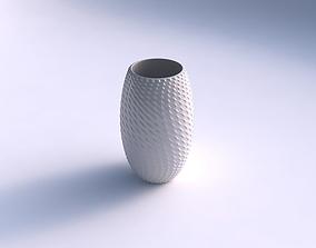3D printable model Vase twisted with grid piramides