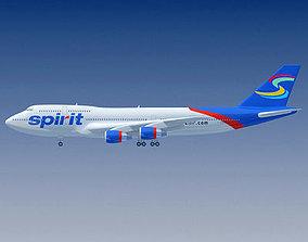 3D model Spirit Airlines Boeing