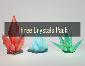 Three Crystals Pack 3D model