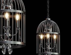 3D Beautiful Bird Cage Chandelier