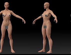3D asset female body 02