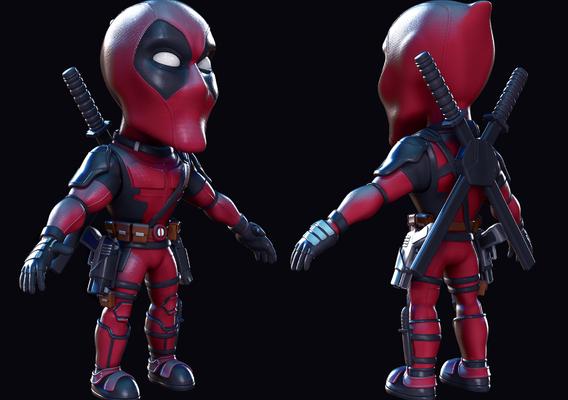Deadpool chibi fan art