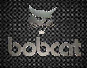 3D model bobcat logo