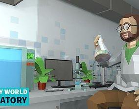 3D LOW POLY WORLD - LABORATORY