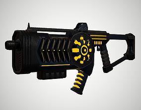 3D asset Futuristic Rifle 02