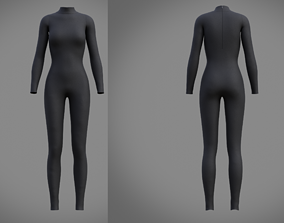 3D model Female full bodysuit