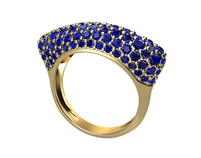 pave ring 3D printable model rings