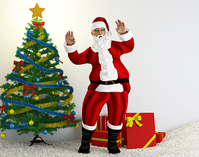 3D Santa Claus scene