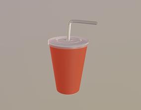 straw Drink Cup 3D model VR / AR ready