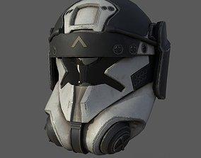 3D model Scifi helmet ver 16