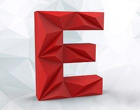 3D printable model Lowpoly letter E