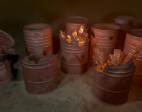 Rusted Barrels 3D asset