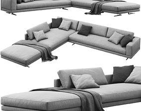 Poliform Mondrian corner sofa 3D model