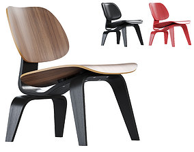 3D Vitra Plywood Lounge Chair Wood LCW