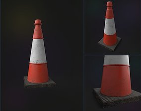 Traffic Cone 3D model game-ready