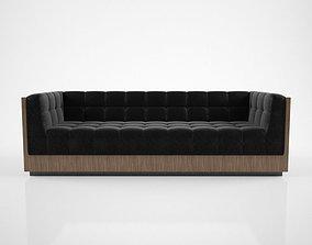 Milo Baughman Rosewood Case Sofa 3D
