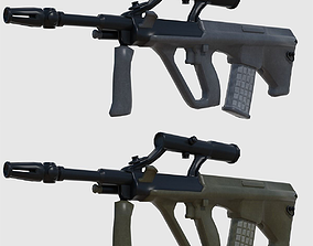 3D model Steyr AUG Assault Rifle - Game Ready