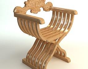 3D Savonarola X Chair Photorealistic