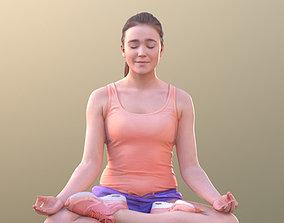 Nelly 10708 - Yoga Pose Girl 3D model