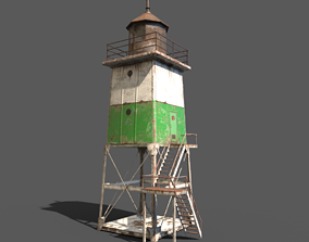 3D asset Old Metal Lighthouse